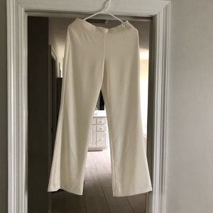 Ann Taylor lined cream trousers